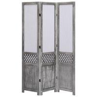 vidaXL 3-Panel Room Divider Grey 105x165 cm Fabric