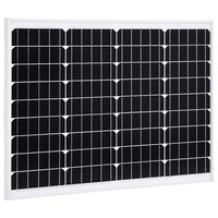 vidaXL Solar Panel 50 W Monocrystalline Aluminium and Safety Glass