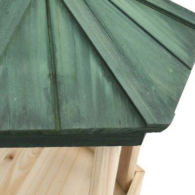 vidaXL Bird Feeder Octagon Solid Firwood 33x30 cm