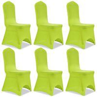 vidaXL Stretch Chair Cover 6 pcs Green