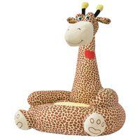 vidaXL Plush Children's Chair Giraffe Brown