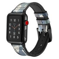 Apple Watch Band 42mm Leather Silicone Wrist Band for iWatch Bands Ser