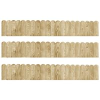 vidaXL Border Rolls 3 pcs 120 cm Impregnated Pinewood