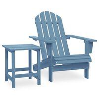vidaXL Garden Adirondack Chair with Table Solid Fir Wood Blue