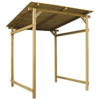 vidaXL Garden Canopy Impregnated Pinewood 170x170x180 cm