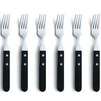 Amefa Steak Fork Set 6pcs Silver and Black