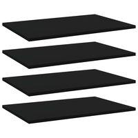 vidaXL Bookshelf Boards 4 pcs Black 60x40x1.5 cm Chipboard