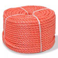 vidaXL Twisted Rope Polypropylene 6 mm 200 m Orange