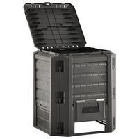vidaXL Garden Composter Black 380 L