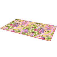 vidaXL Play Mat Loop Pile 170x200 cm Sweet Town Pattern