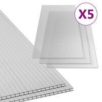 vidaXL Polycarbonate Sheets 5 pcs 4.5 mm 150x65 cm
