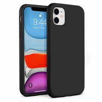 Full Body Shockproof Liquid Silicone Case for iPhone 11 black