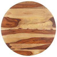 vidaXL Table Top Solid Sheesham Wood Round 15-16 mm 70 cm