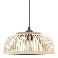 vidaXL Pendant Lamp Bamboo 40 W 30x12 cm Semicircle E27