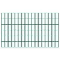 vidaXL 2D Garden Fence Panels 2.008x1.23 m 44 m (Total Length) Green