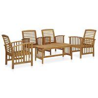 vidaXL 5 Piece Garden Lounge Set Solid Acacia Wood