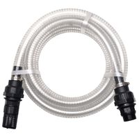 vidaXL Suction Hose with Connectors 4 m 22 mm White