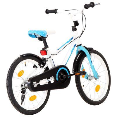 vidaXL Kids Bike 18 inch Blue and White
