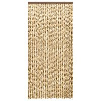 vidaXL Insect Curtain Beige and Brown 100x220 cm Chenille