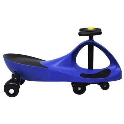 vidaXL Ride on Toy Wiggle Car Swing Car with Horn Blue