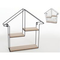 Urban Living - Wall rack Home with 3 storage shelves