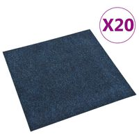vidaXL Floor Carpet Tiles 20 pcs 5 m² Navy Blue