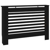 vidaXL Radiator Cover Black 112x19x81 cm MDF