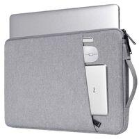 14.1 inch Laptop Briefcase Sleeve - Light grey