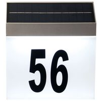 Luxform Solar LED House Number Wall Light Cornwall White 34106