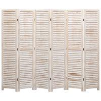 vidaXL 6-Panel Room Divider 210x165 cm Wood