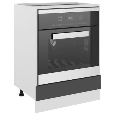 vidaXL Oven Cabinet Grey 60x46x81.5 cm Chipboard