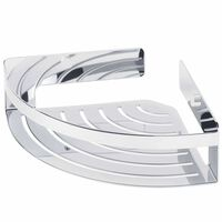 Tiger Bathroom Corner Basket Caddy Chrome Large 1400630346