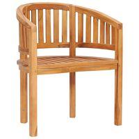 vidaXL Banana Chair Solid Teak Wood