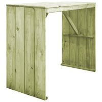 vidaXL Bar Table 130x60x110 cm Impregnated Pinewood