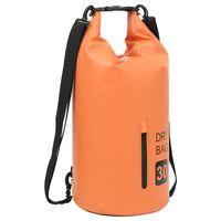 vidaXL Dry Bag with Zipper Orange 30 L PVC