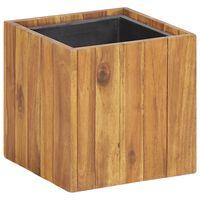 vidaXL Garden Raised Bed Pot 24.5x24.5x25 cm Solid Acacia Wood