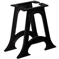vidaXL Coffee Table Legs 2 pcs with Arched Base A-Frame Cast Iron