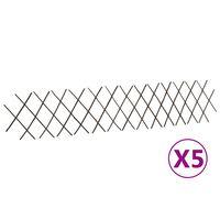vidaXL Willow Trellis Fences 5 pcs 180x30 cm