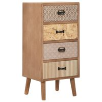 vidaXL Side Cabinet with 4 Drawers Brown 34.5x30x74.5 cm MDF