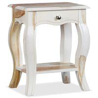 vidaXL Bedside Cabinet Solid Sheesham Wood 40x30x50 cm