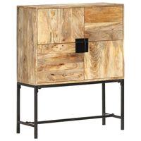 vidaXL Highboard 80x30x100 cm Solid Mango Wood