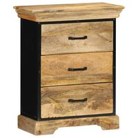 vidaXL Chest of Drawers 60x30x75 cm Solid Mango Wood