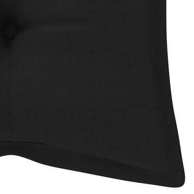 vidaXL Folding Garden Bench with Cushion 118 cm Bamboo