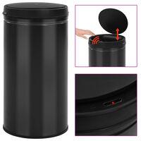 vidaXL Automatic Sensor Dustbin 60 L Carbon Steel Black