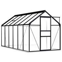 vidaXL Greenhouse with Base Frame Anthracite Aluminium 7.03 m²