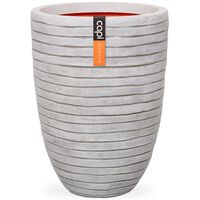 Capi Vase Nature Row Elegant Low 46x58 cm Ivory KRWI783