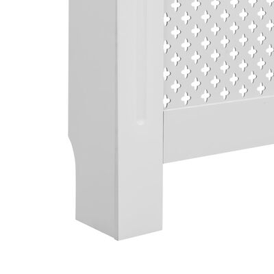 vidaXL Radiator Cover White 152x19x81.5 cm MDF