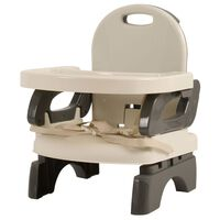 Kekk Booster Seat with Dining Tray Grey and Beige