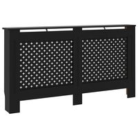 vidaXL Radiator Cover Black 152x19x81 cm MDF