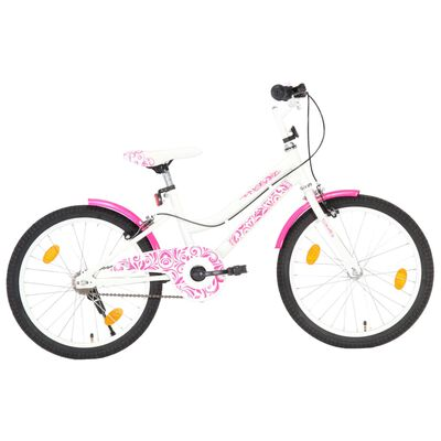 vidaXL Kids Bike 20 inch Pink and White